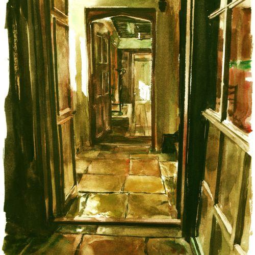 Tudor House illustration by Philip Bannister