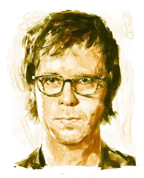 Illustration of Ben Folds by Philip Bannister