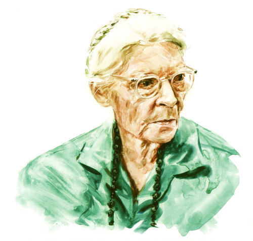 Dorothy Day portrait illustration