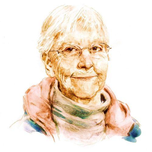 Megan Rice portrait illustration