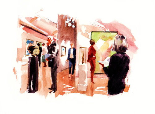 Water colour illustration of people