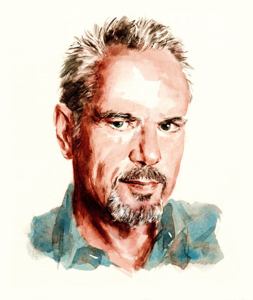 Portrait illustration of Nik Kershaw
