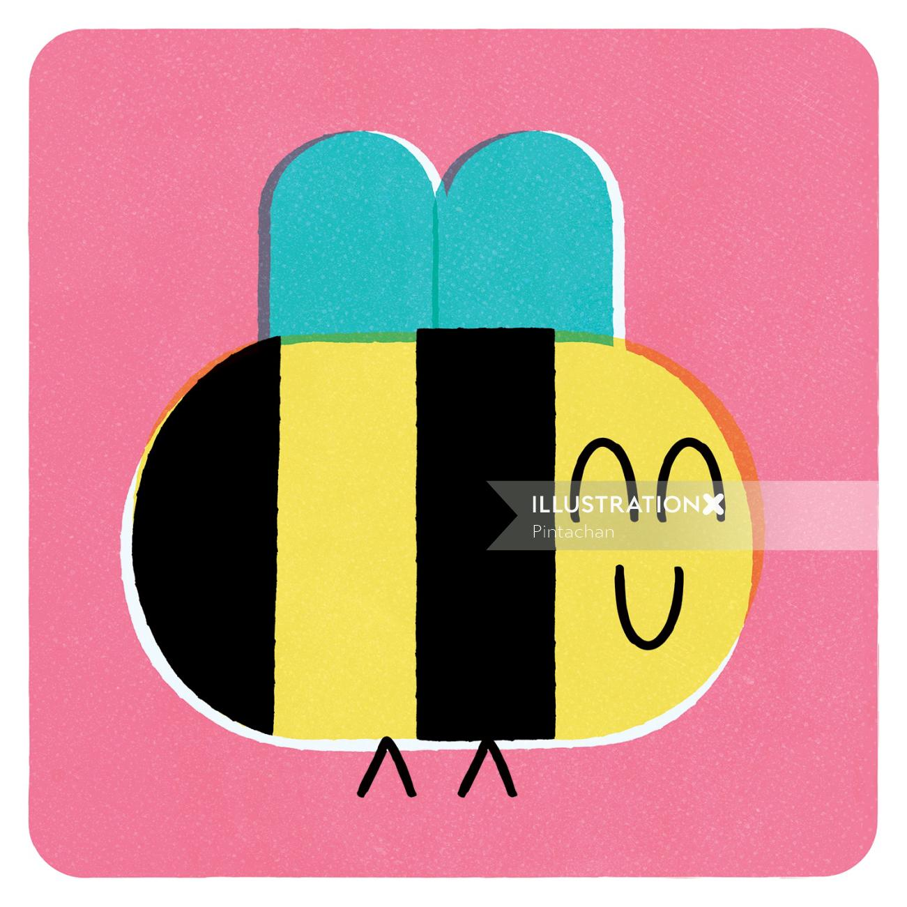 Bee character illustration
