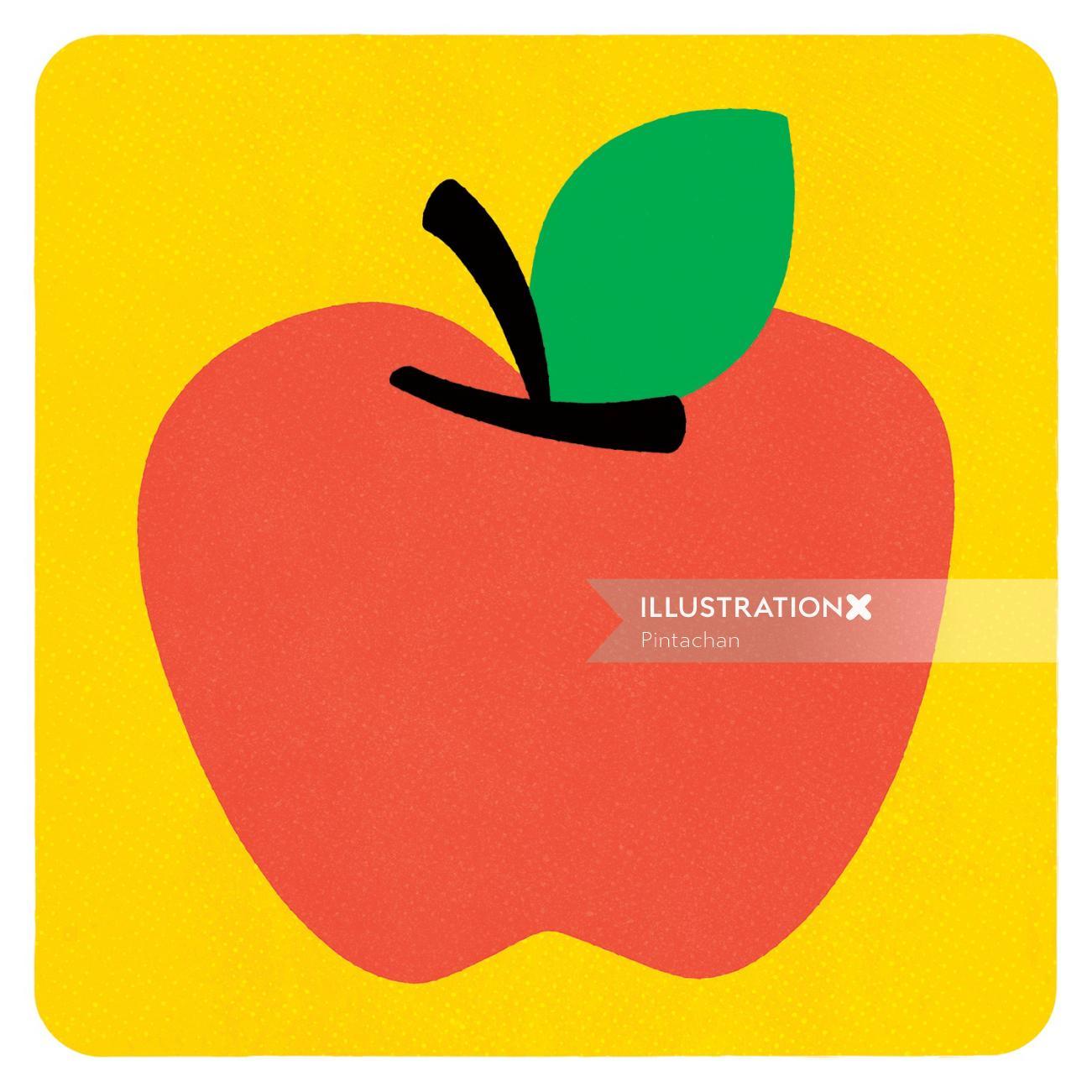 Digital apple by Pintachan