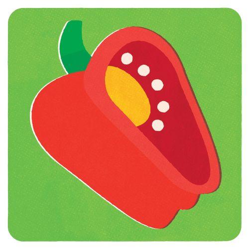 Cartoon design of Red Bell Pepper