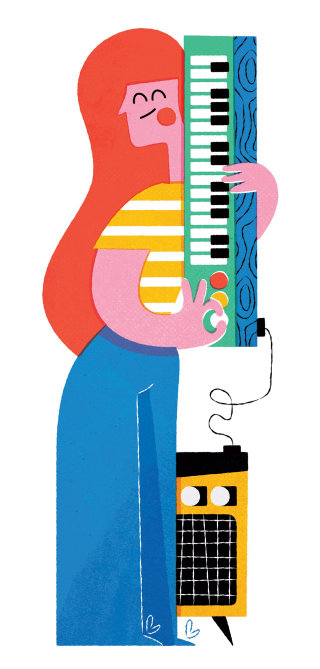 Musical instrument and kid digital art