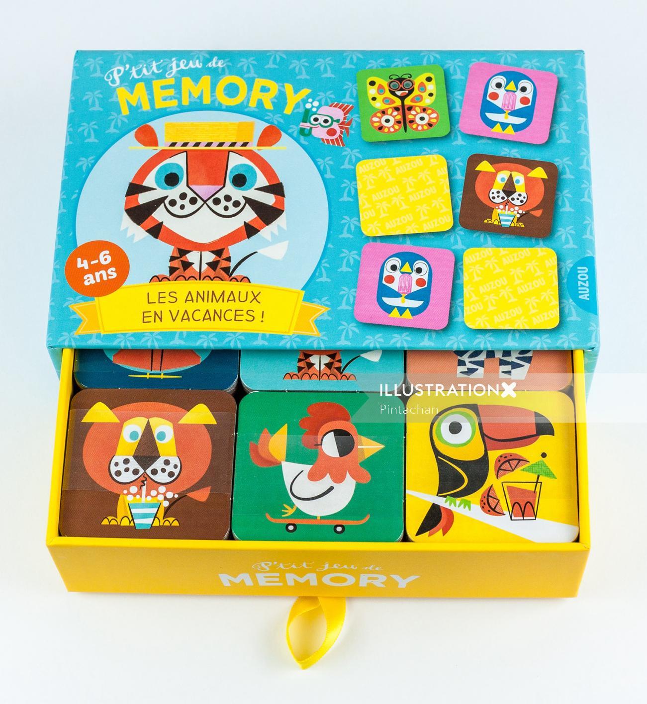 Illustration on gift box