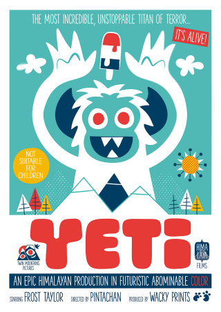 Yeti Book cover for children