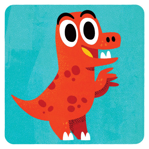 Red Dinosaur illustration by Pintachan