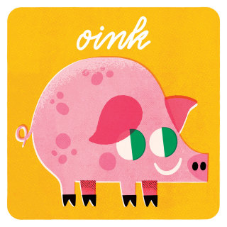 Pink pig digital art