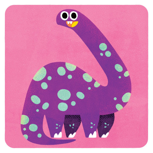 Purple Dinosaur illustration by Pintachan