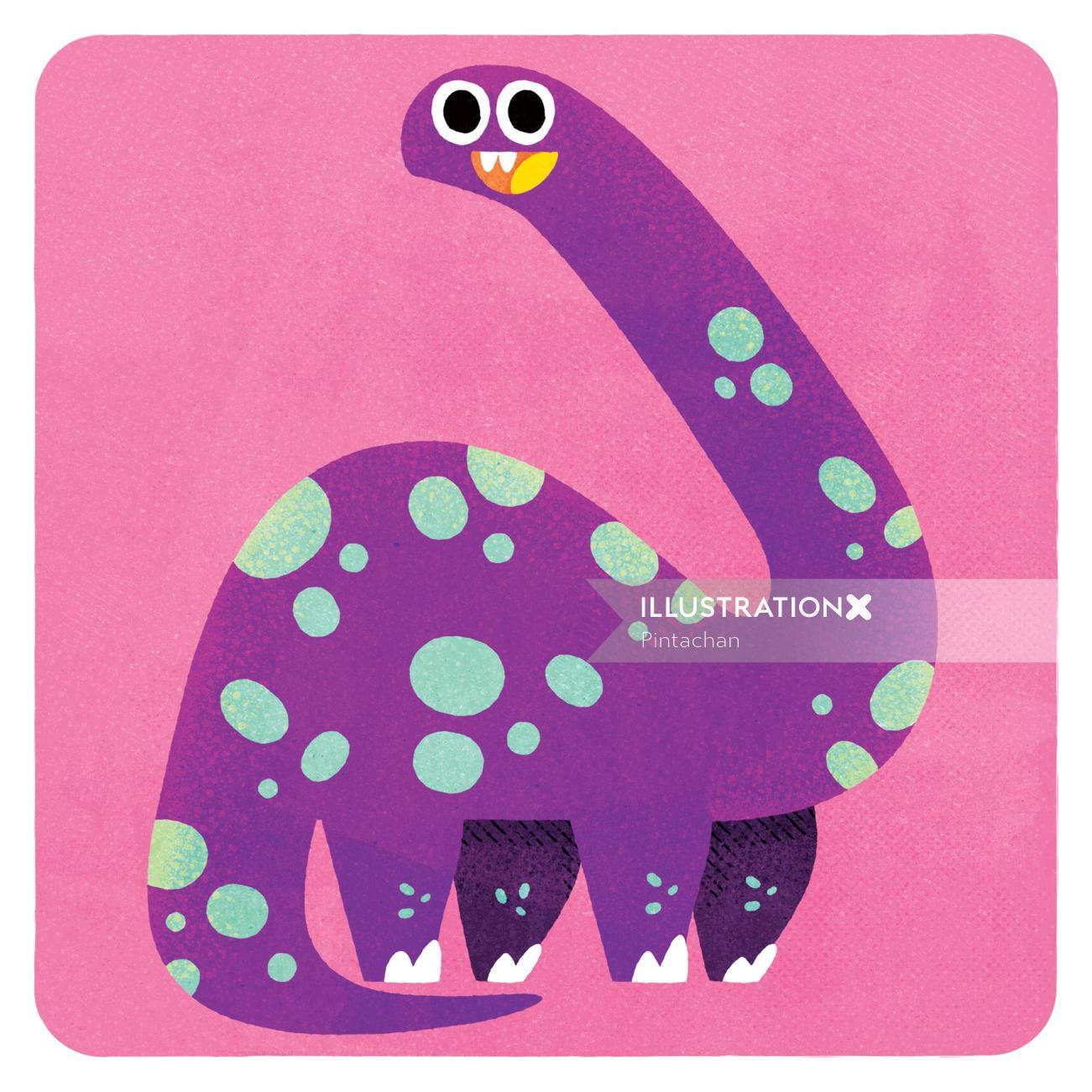 Purple Dinosaur illustration by Pintachan