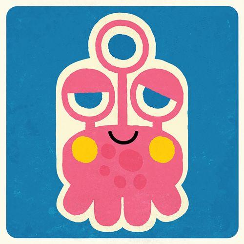 Monster digital art for kids