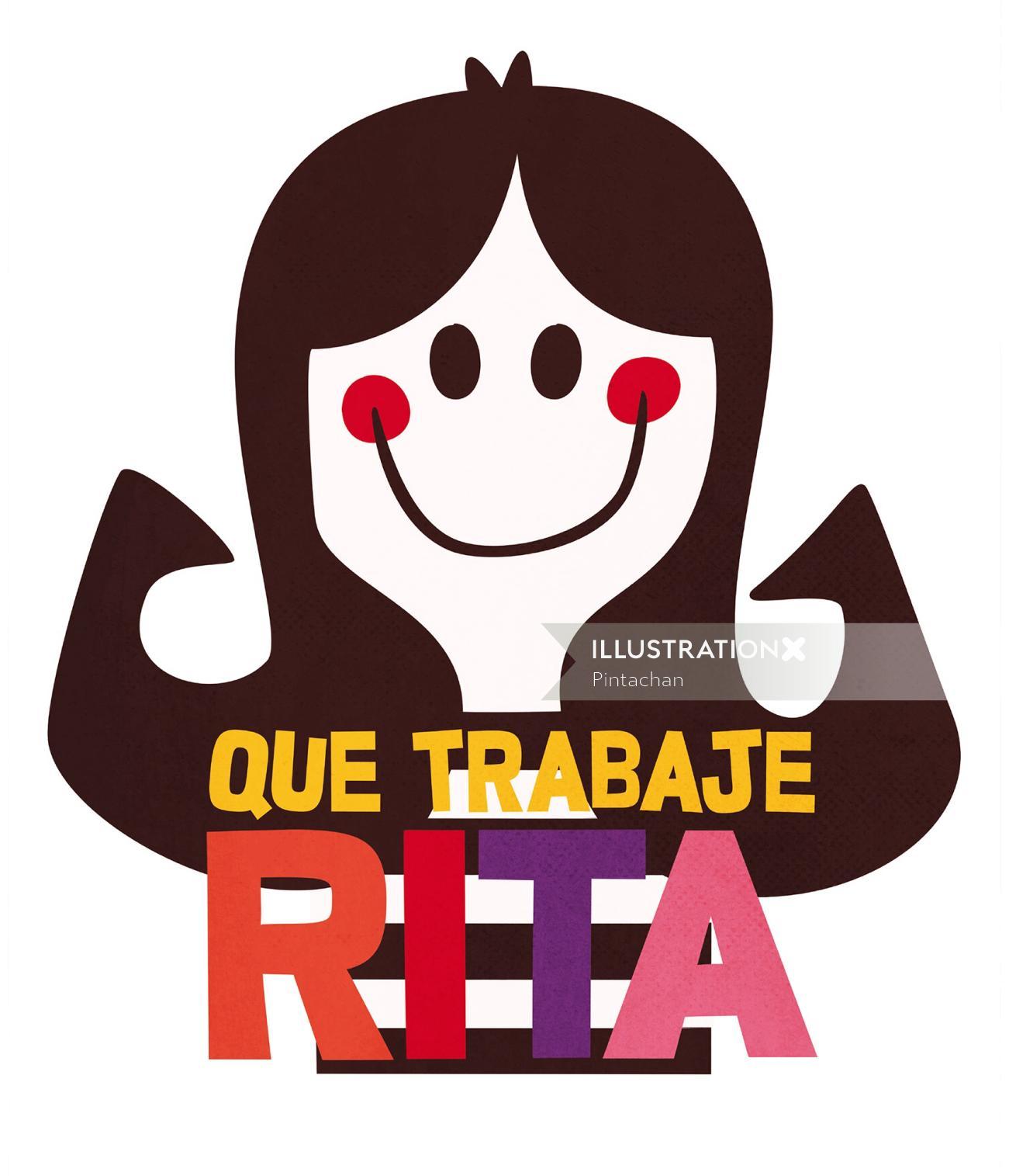 Rita cartoon character pop art