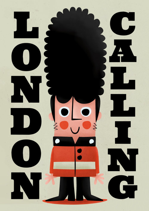 London Calling lettering illustration by Pintachan