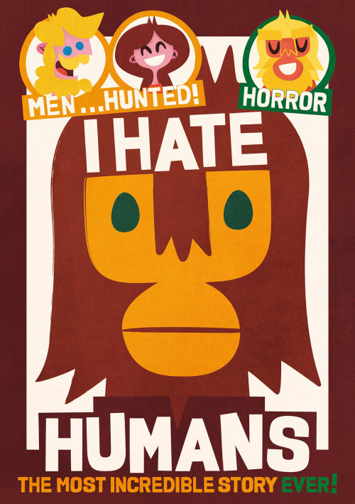 Lettering illustration of I Hate Humans