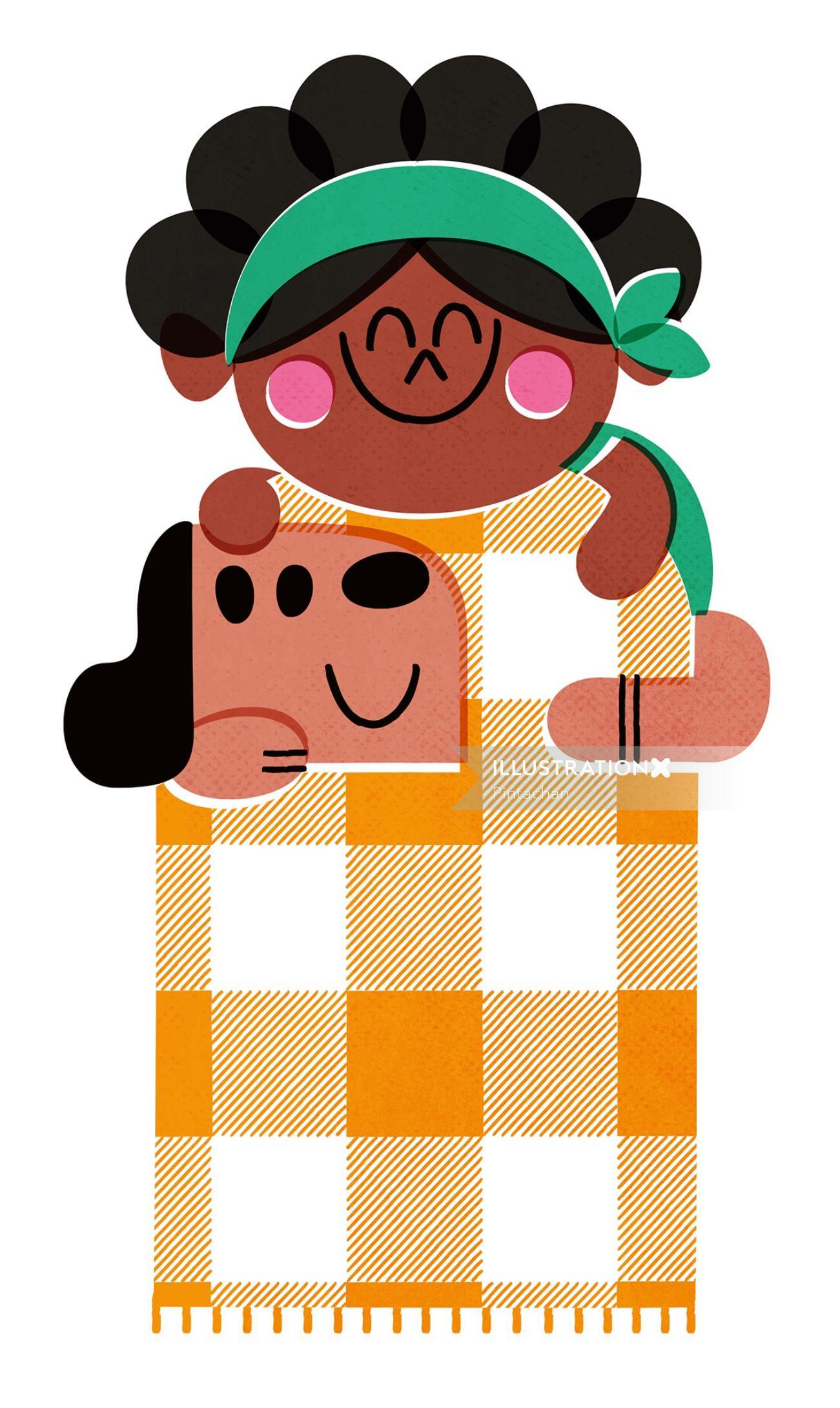 Cute Girl Digital illustration