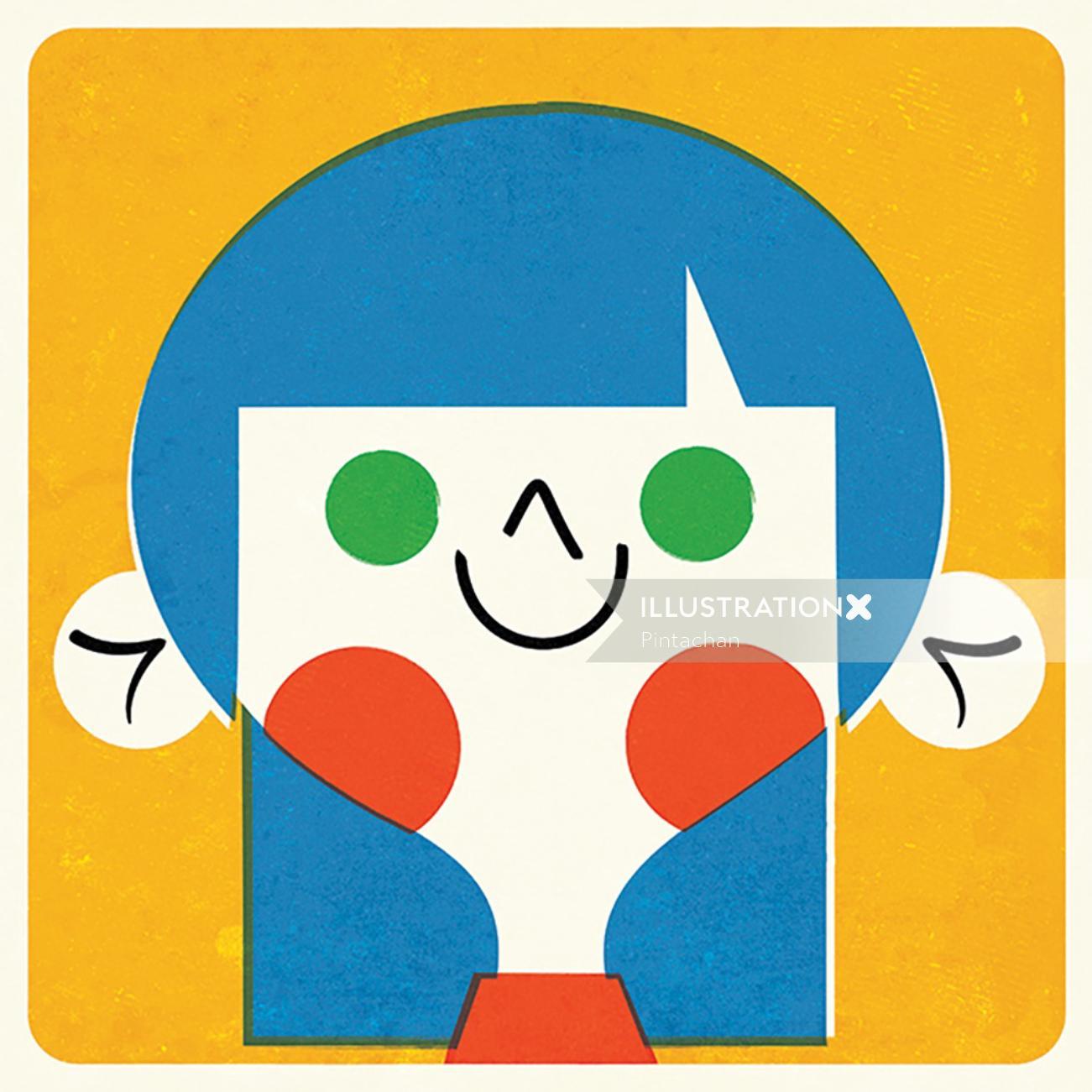 Cartoon character art