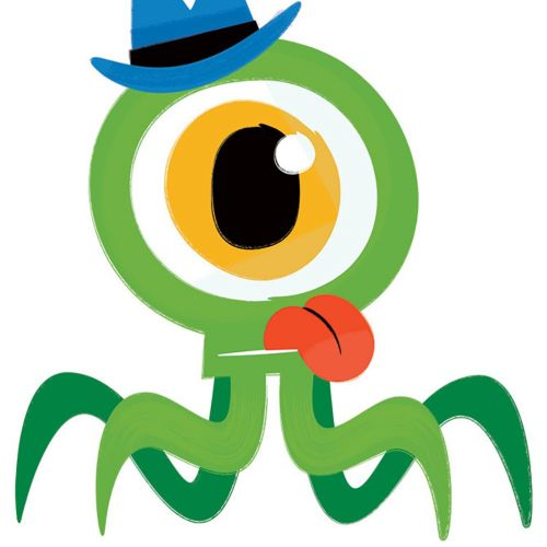 Monster character illustration