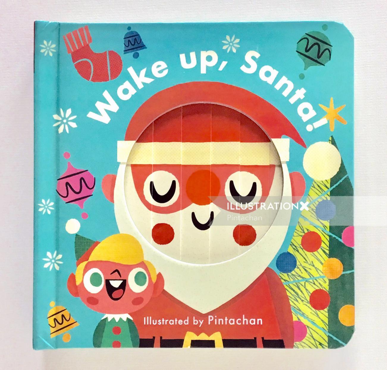 Wake up Santa graphical painting