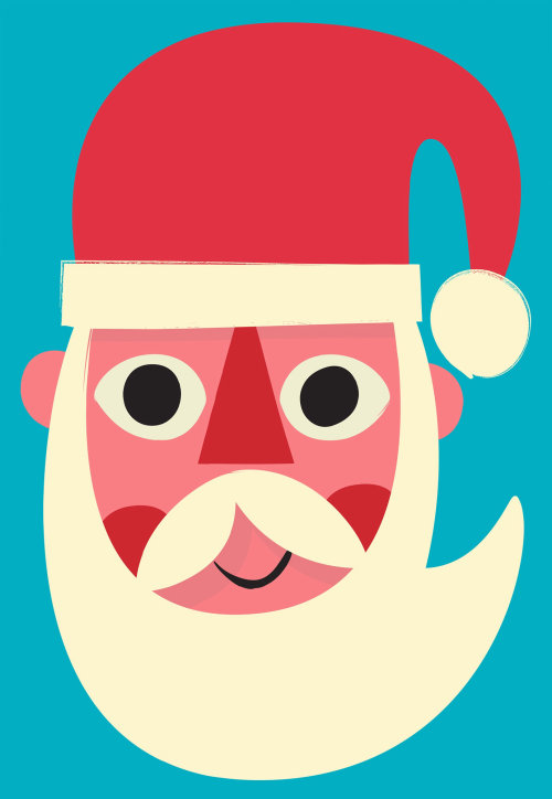 Digital Santa painting