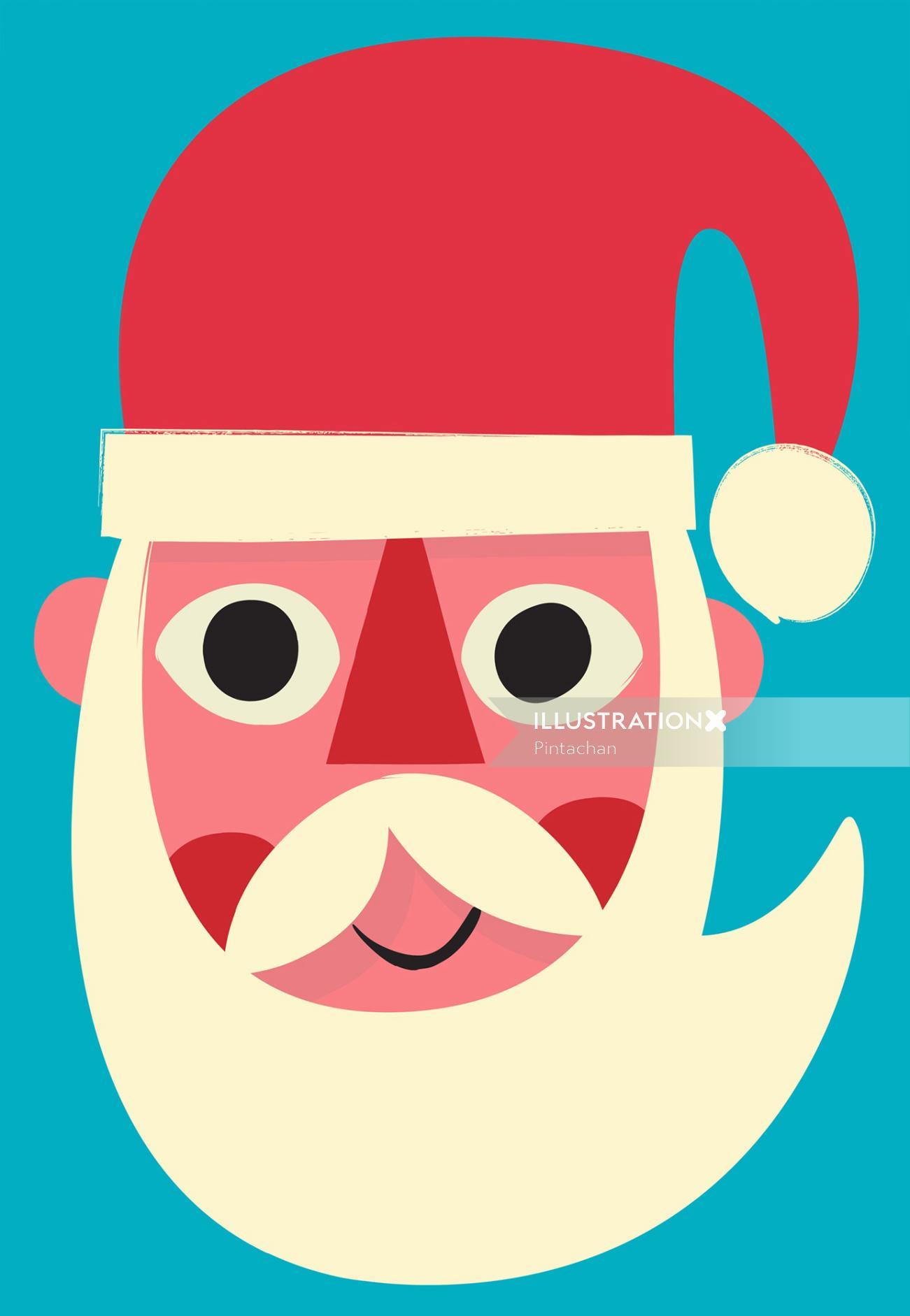 Digital Santa painting