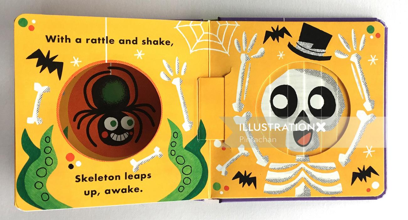 Skeleton illustrated book cover