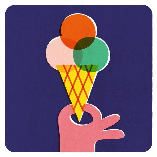 Ice Cream cone pop illustration