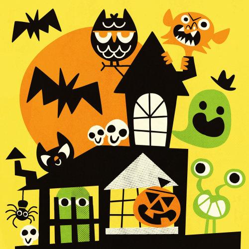 Halloween cartoon character illustration