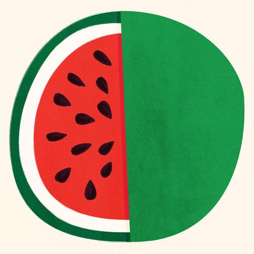 Editorial illustration of watermelon