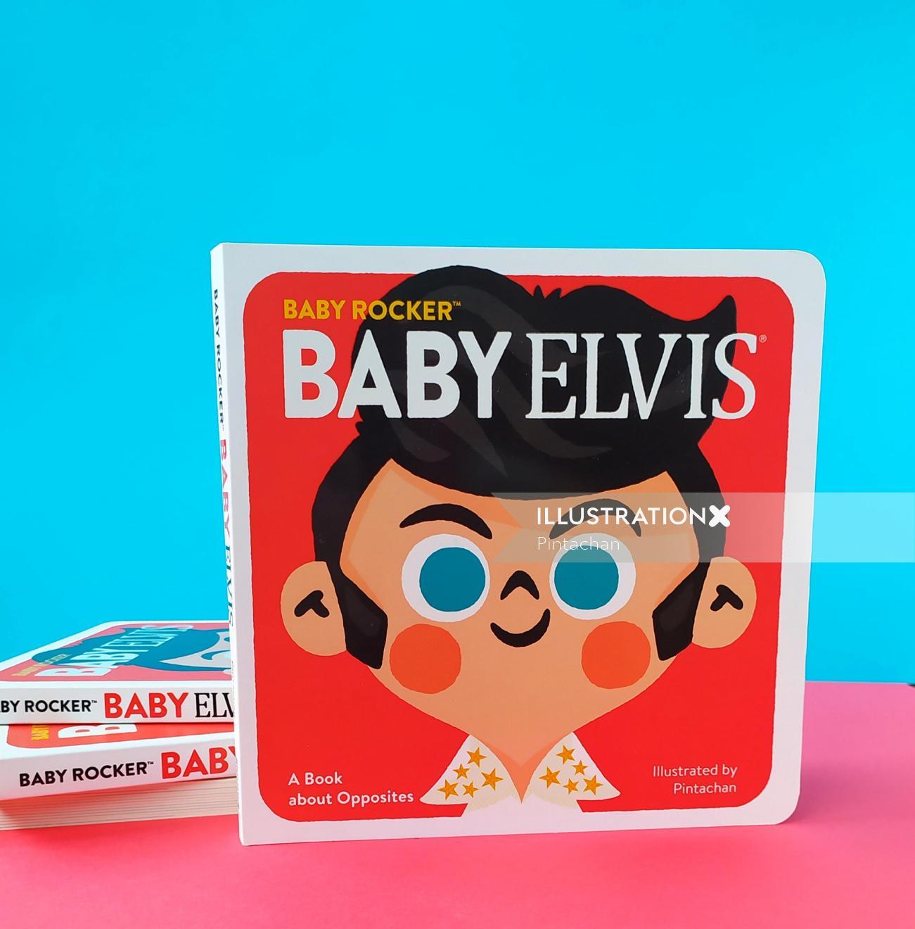 Pintachan's Baby Elvis book illustration