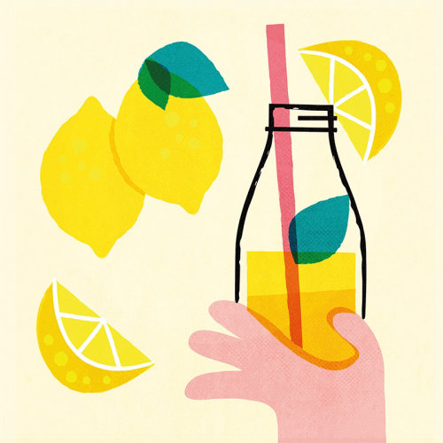Lime juice retro poster