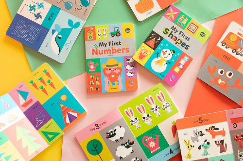 Kid's my first number and shape board books illustration