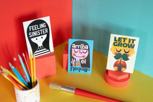 Children's pen stand illustration