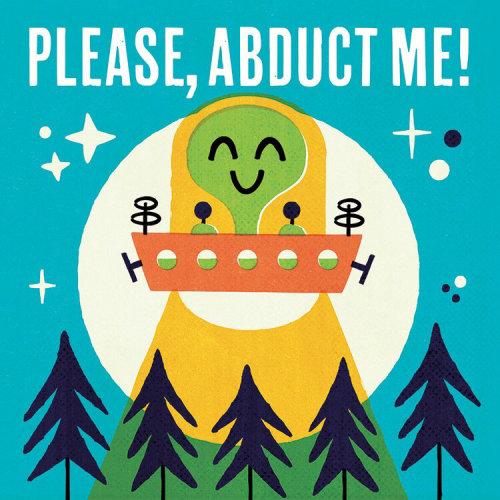 Please, Abduct Me! Lettering illustration