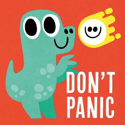 Don't Panic lettering illustration