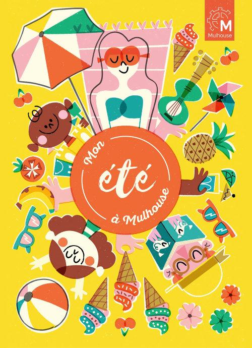 Mon ete a Mulhouse program graphic poster