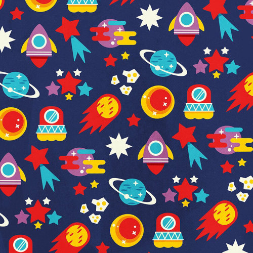 Cartoon design of Space with Planets