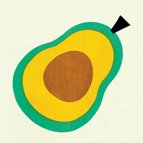 Avocado fruit cartoon illustration