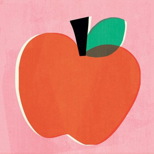 Apple fruit retro poster
