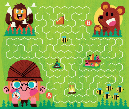 Puzzle game illustration for Kids
