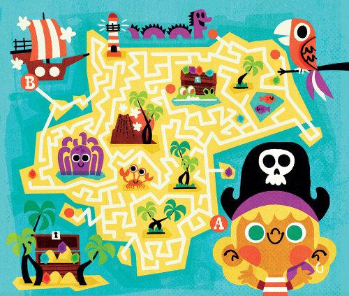 Children's puzzle game illustration