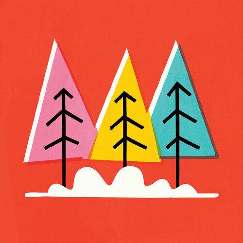 Graphic design of Christmas Tree