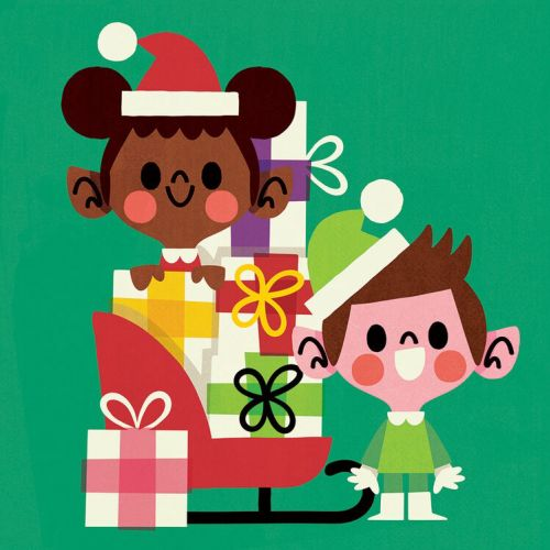 Children's with Christmas gifts