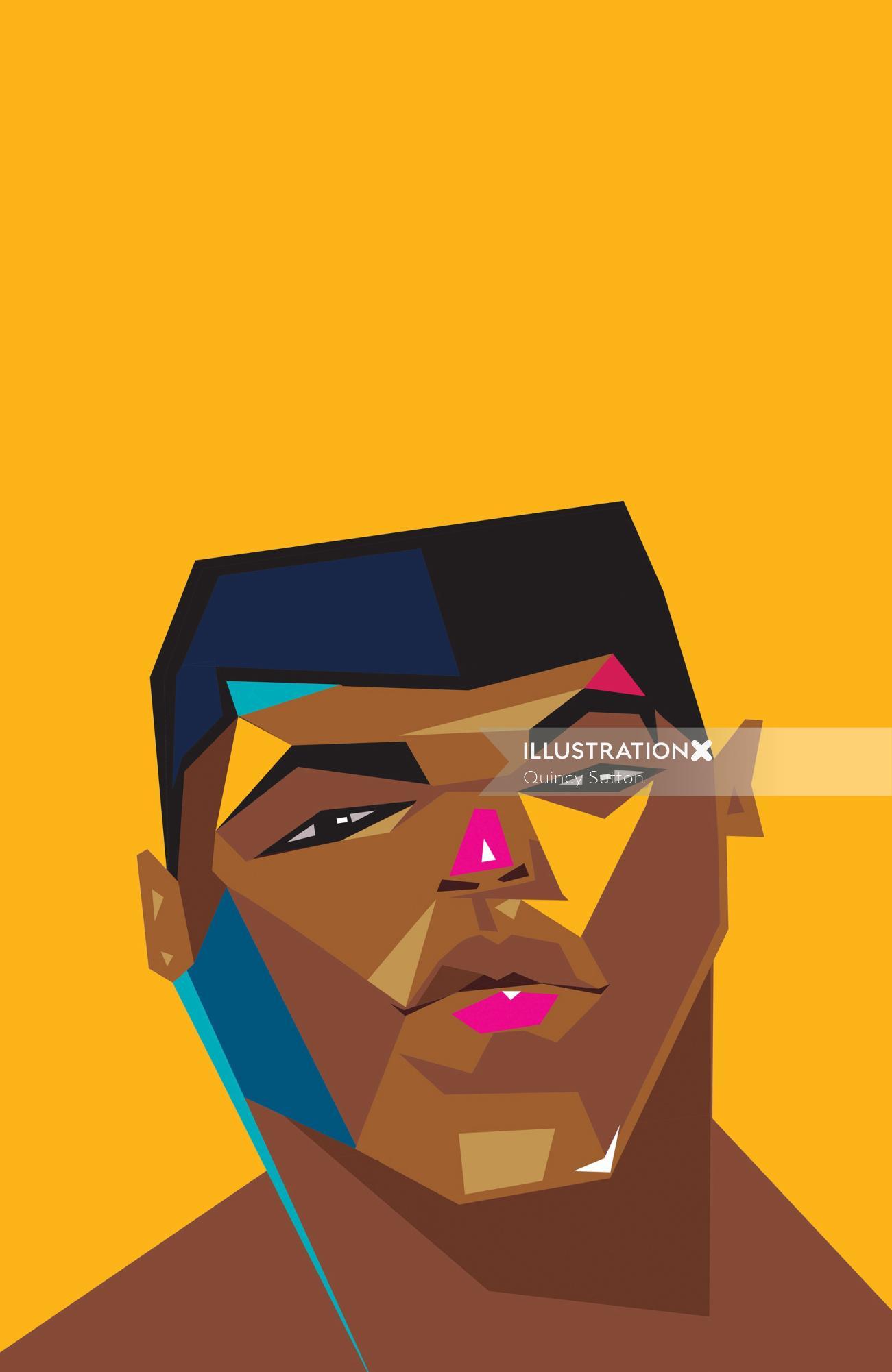 Muhammad Ali vector portrait