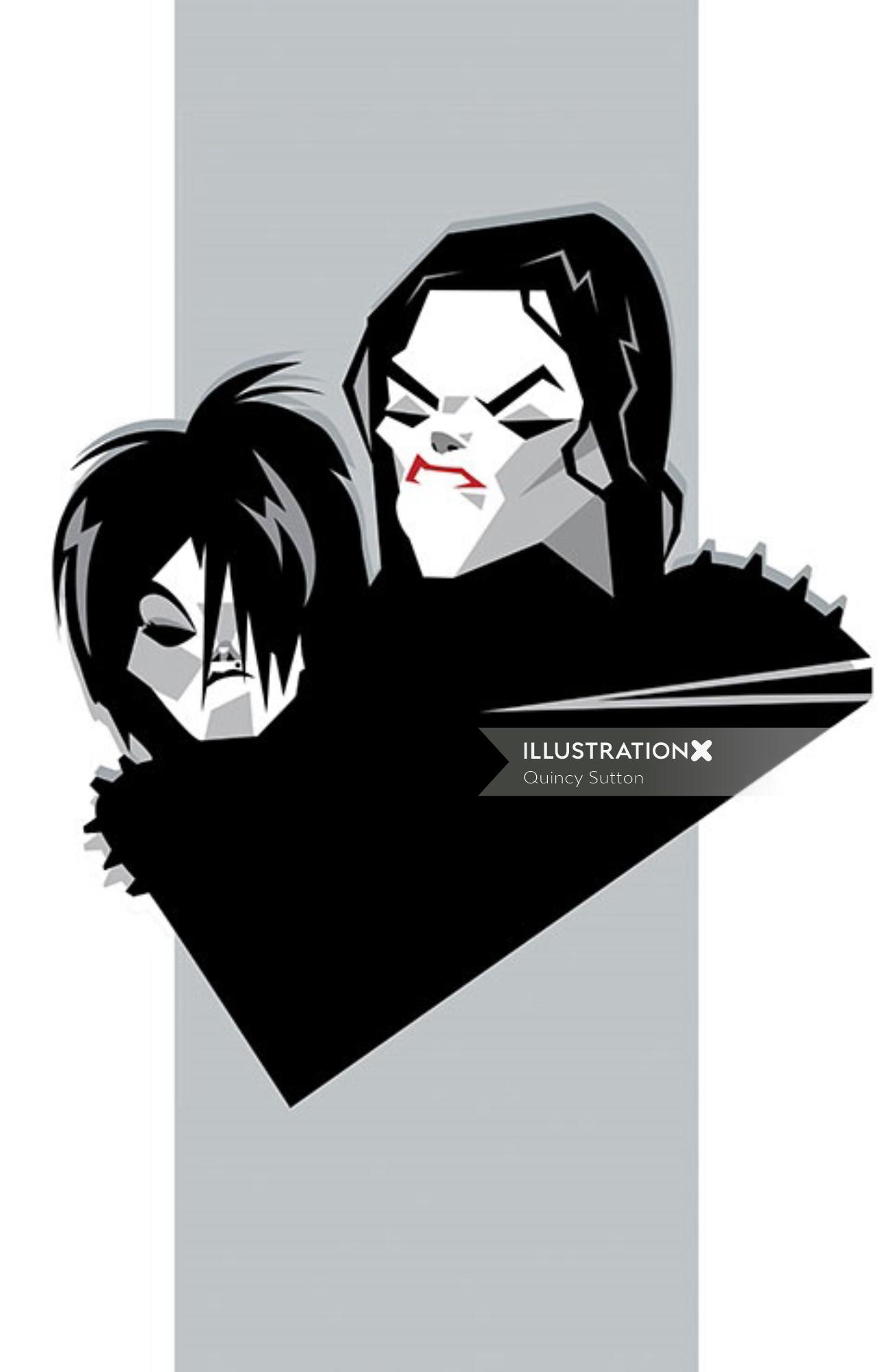 Michael and Janet vector character design