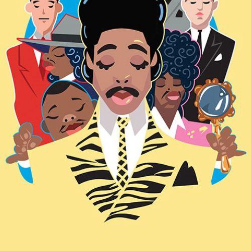 Digital painting of pop singers