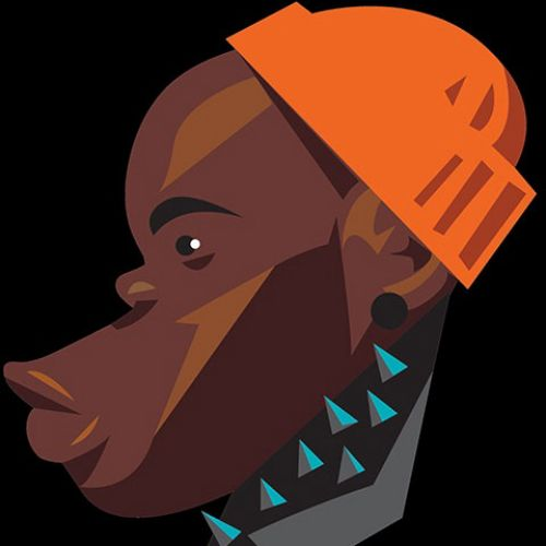 Vector art of African man