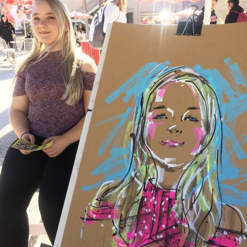 Quincy Sutton Live Event Drawing Illustrator from United States