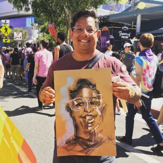 Quincy Sutton Live Event Drawing - CA, United States based illustrator